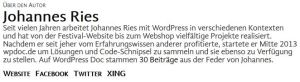 Autoreninformationen Screenshot
